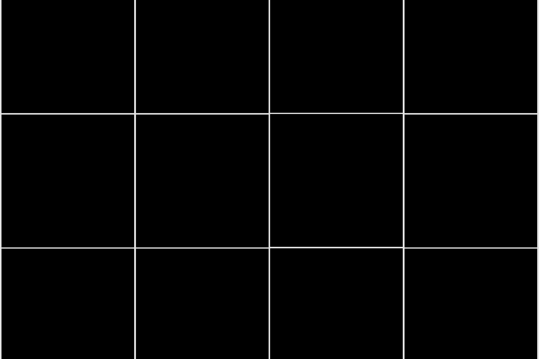 Grid of black squares resembling an Instagram feed.