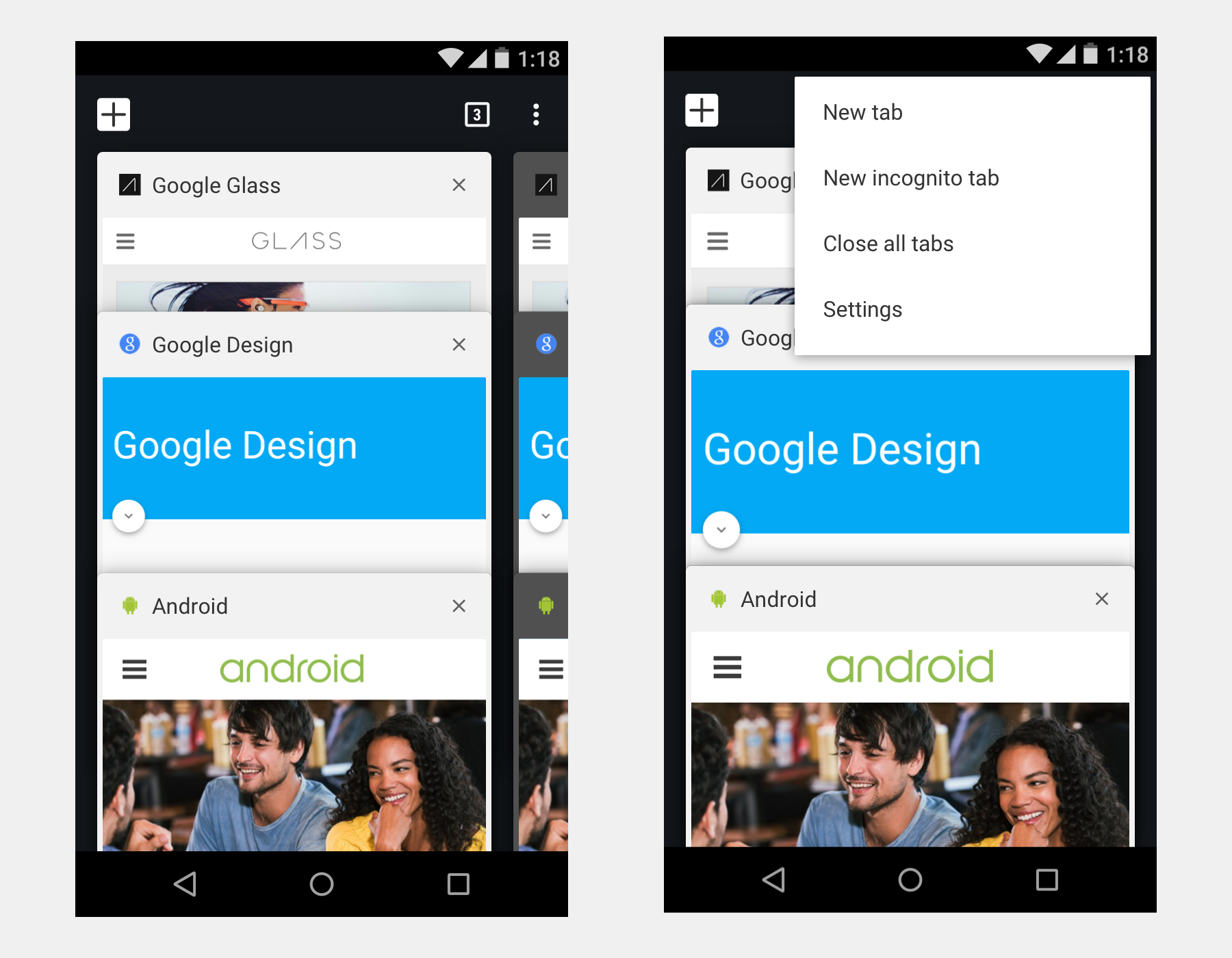 Redesigning Chrome Android  Part 2 of 2 - Google Design - Medium