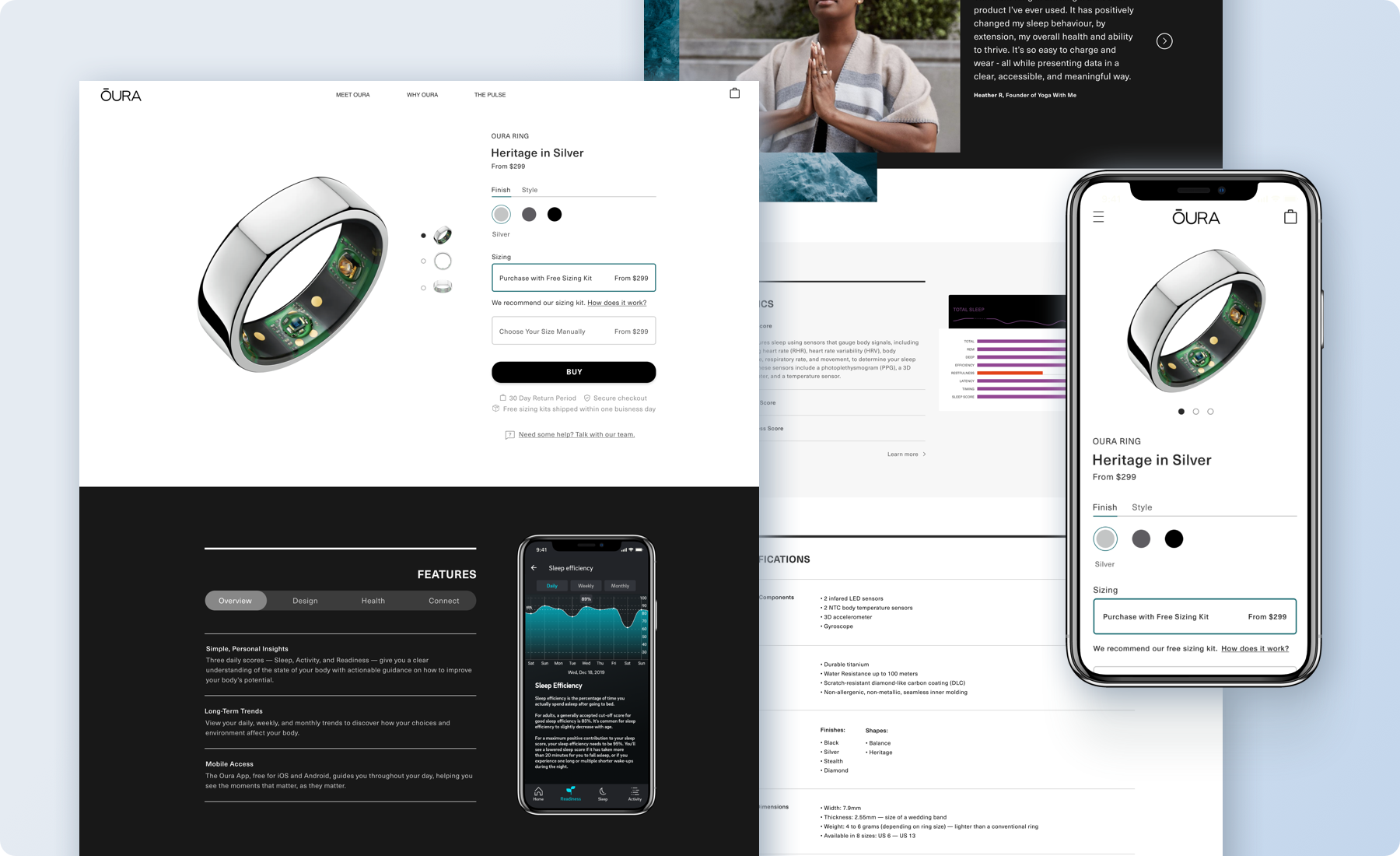 Redesigning A Sleep And Activity Tracker S E Commerce Page A Ux Case Study By Caitlin Sowers Ux Collective