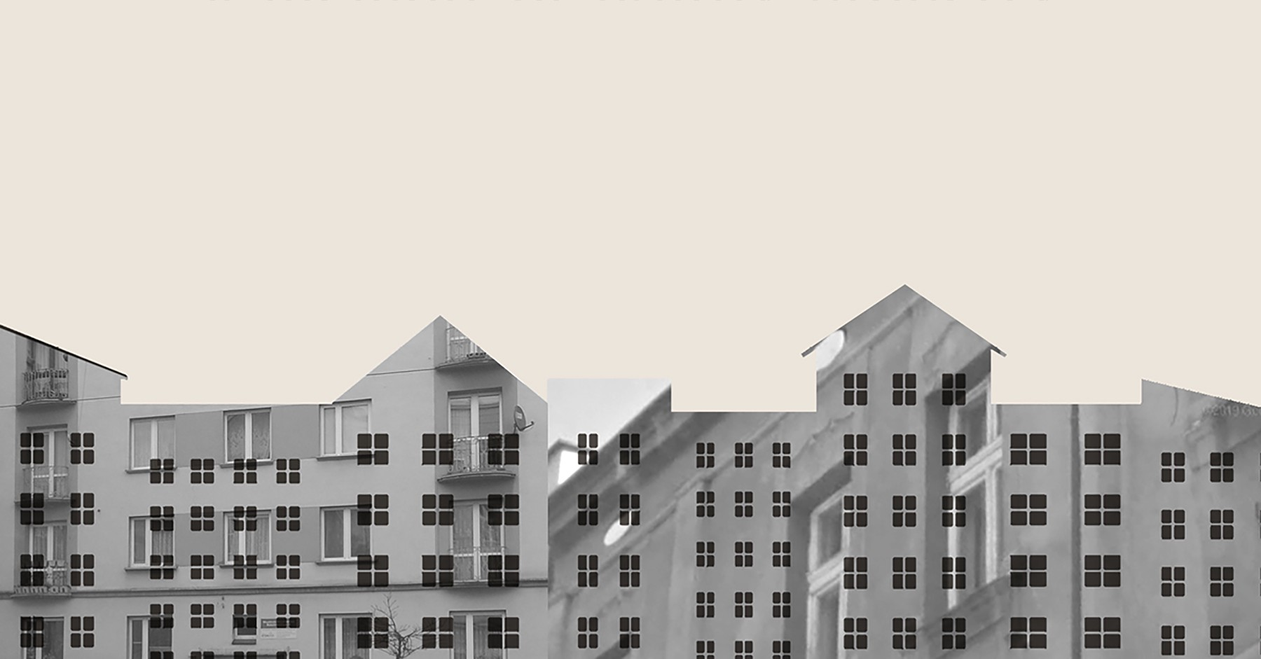 Book cover illustration of apartment buildings from the Scribe Book edition of Plunder: A Memoir of Family Property and Nazi Treasure by Menachem Kaiser