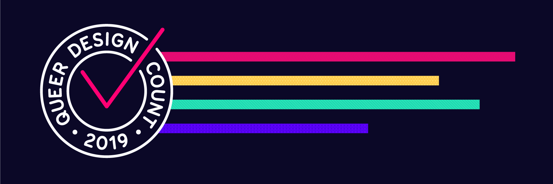 The queer design count 2019 banner
