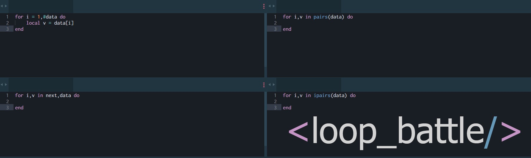 Battle Of The Loops Debunking The Lua Loop Optimization By