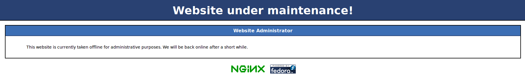 Configuring nginx for quickly switching to maintenance mode
