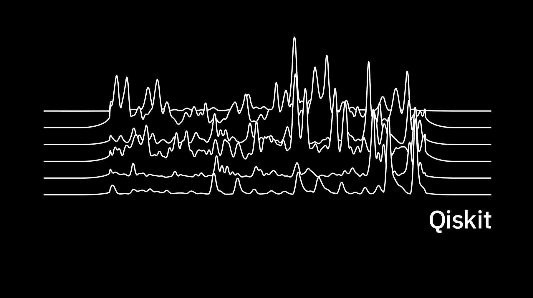 Image of data from a quantum computer styled like the Unknown Pleasures album artwork.