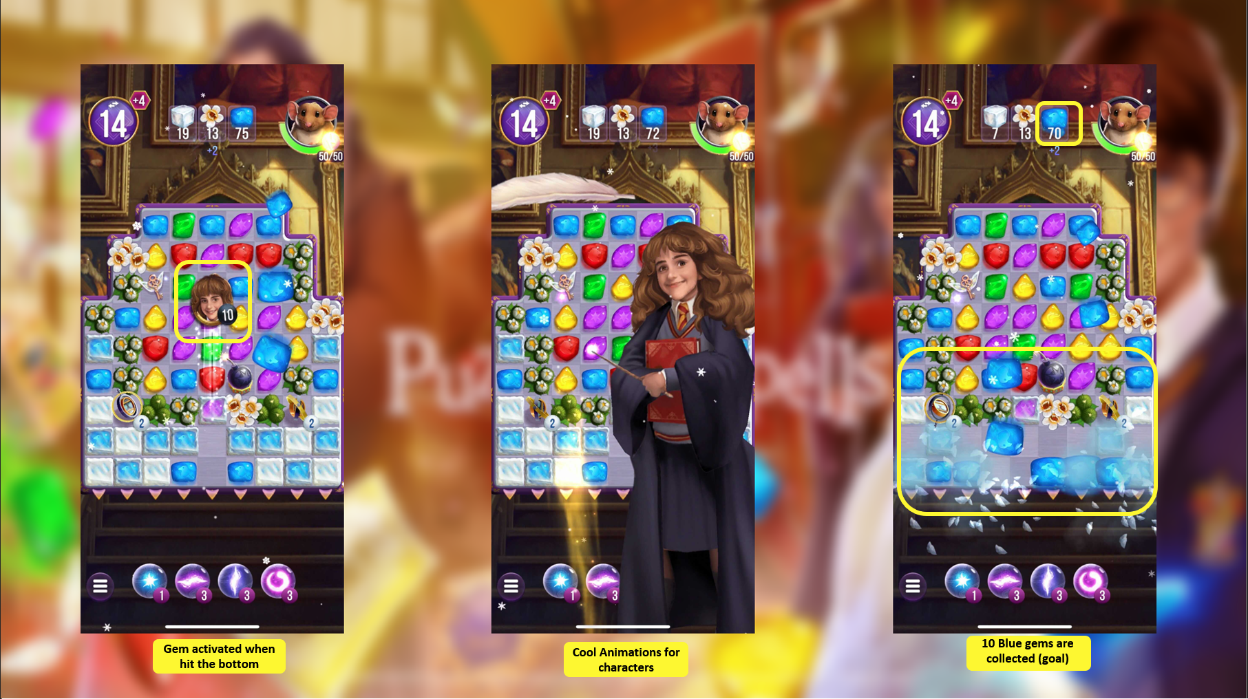 Special gems in Puzzles and Spells