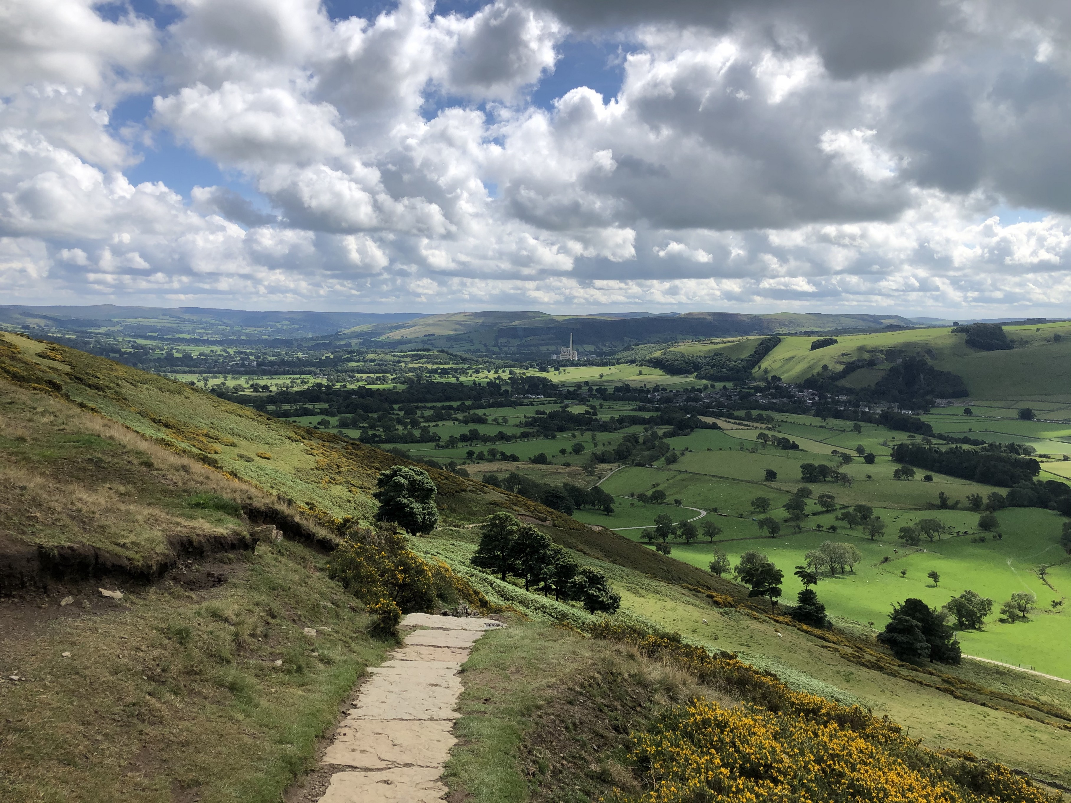 View from halfway down Mam Tor
