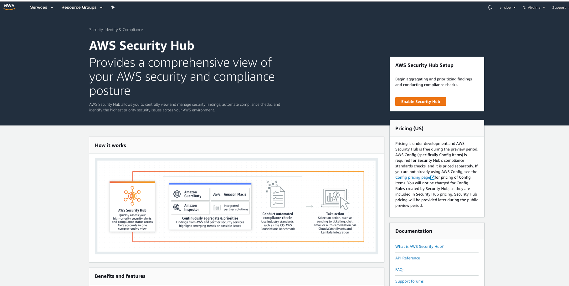 AWS Security Hub Review - VirClop, Your Own Virtual Cloud