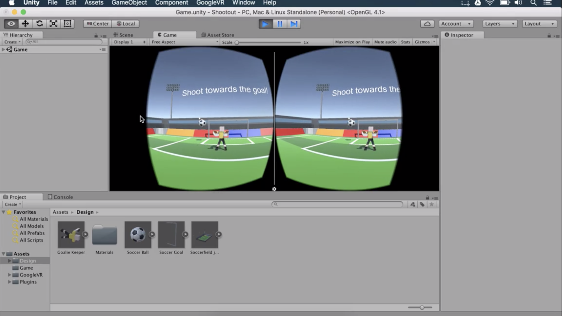 Part 1: Making my first Virtual Reality game — Soccer Shootout