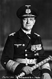 Gross Admiral Erich Raeder, Commander-in-Chief of the German Kriegsmarine from 1935 to 1943, the first to argue for an occupation of Norway Source: Google Images