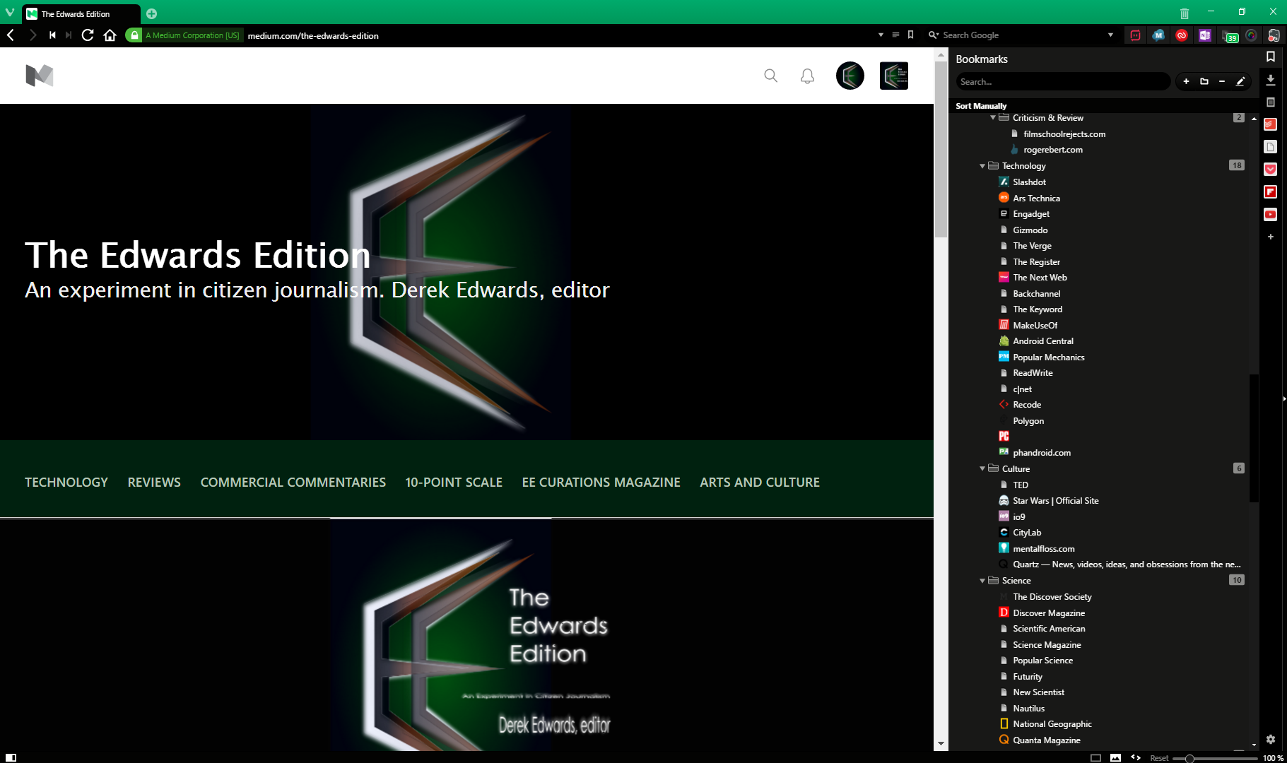 Review: Vivaldi Browser for Windows - The Edwards Edition
