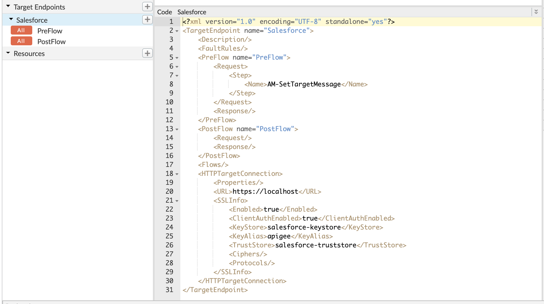 Apigee Shared Flow and API Proxy to Access Salesforce APIs