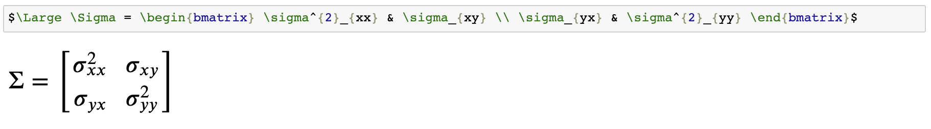 Latex On Jupyter Notebook