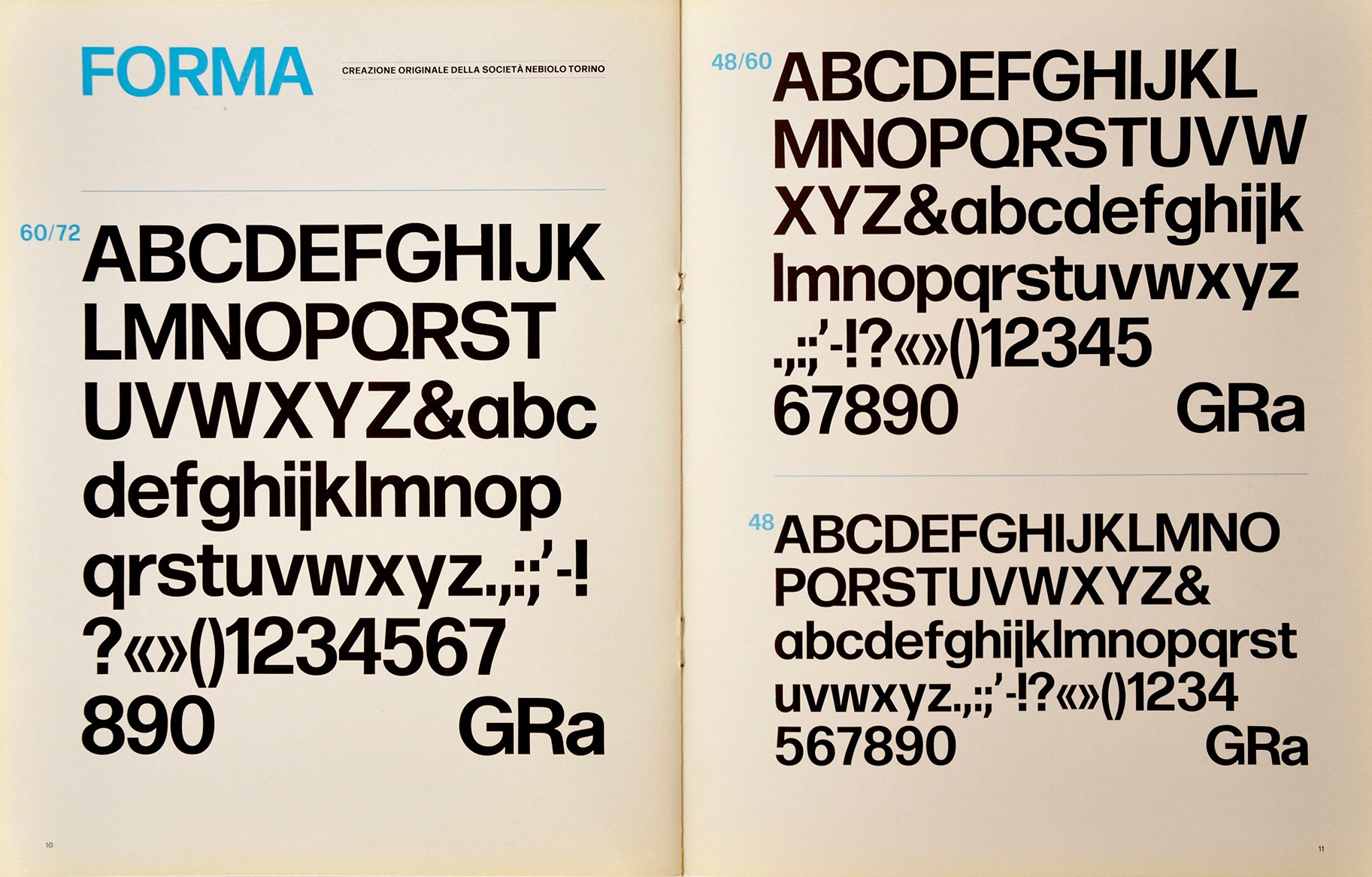 The final act at Nebiolo: the quest for a 'universal' typeface (1/2