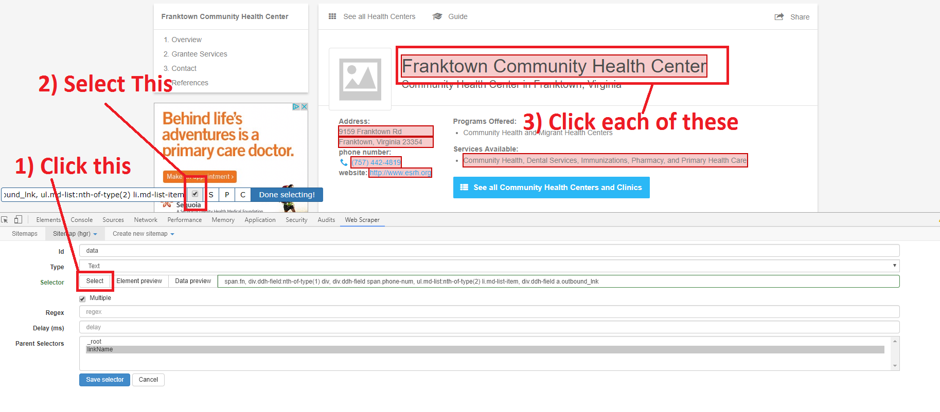 How to Quickly Scrape Web Data to make your Health Focused Chat Bot