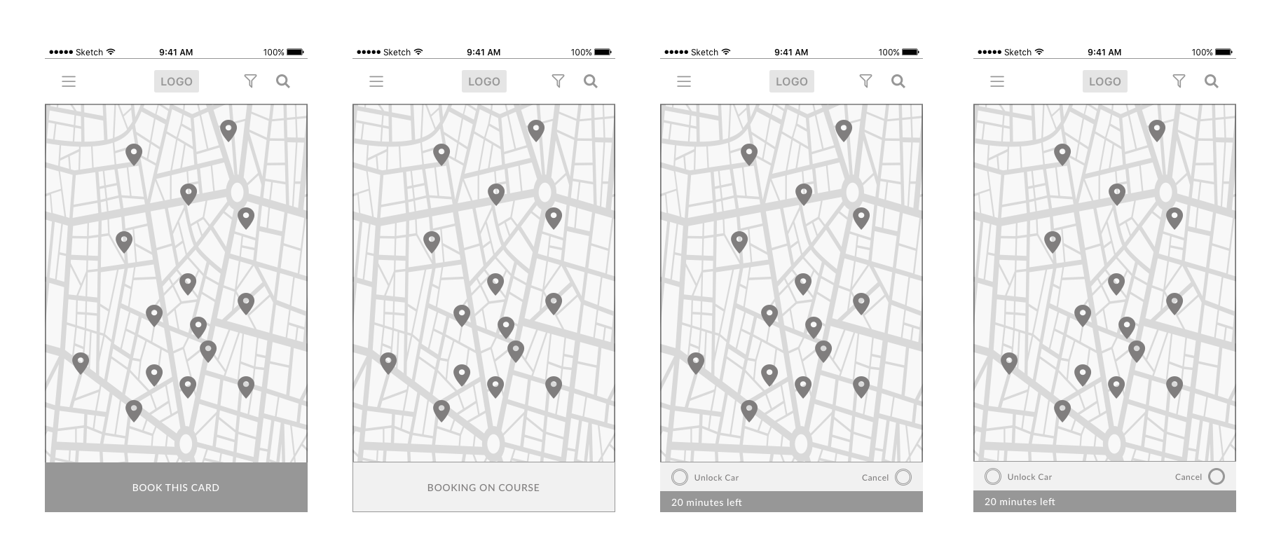 Exercise Wireframing In Sketch Hey This Is An Exercise From My Ux Ui By Patricia Perez My Ironhack S Journey Medium