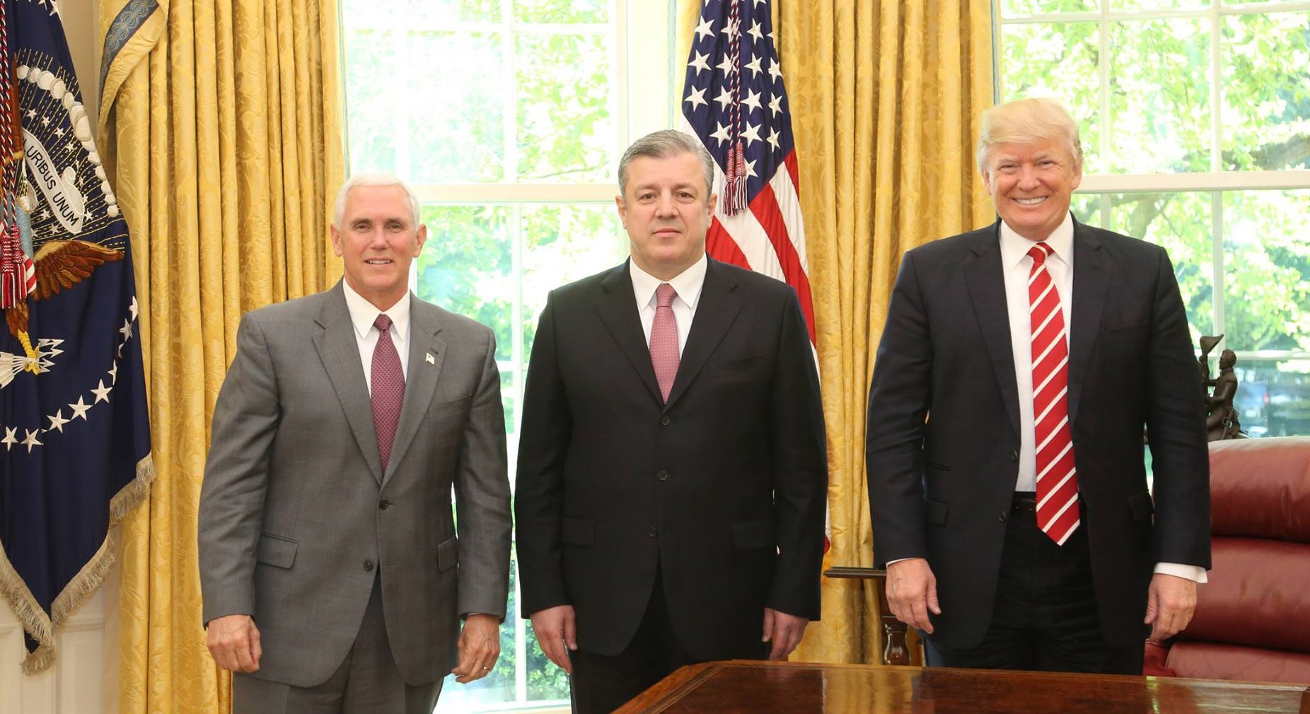 Georgian Pm Meets Us President Vice President And Cabinet Members
