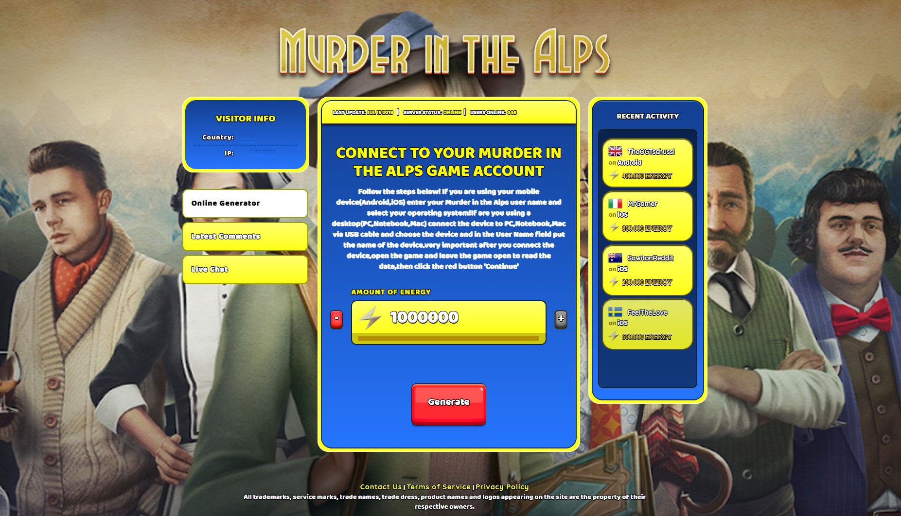 Murder In The Alps Cheats Unlimited Energy Hack By Kroost Medium