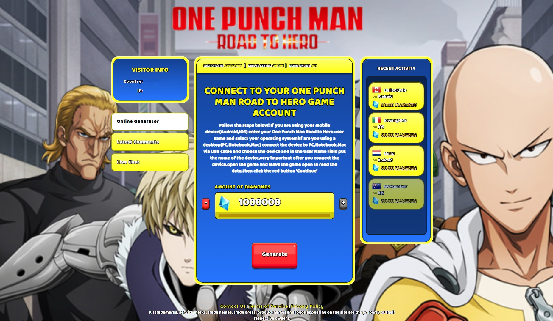 One Punch Man Road To Hero Cheats Guide For More Diamonds Hack By Schwende Medium