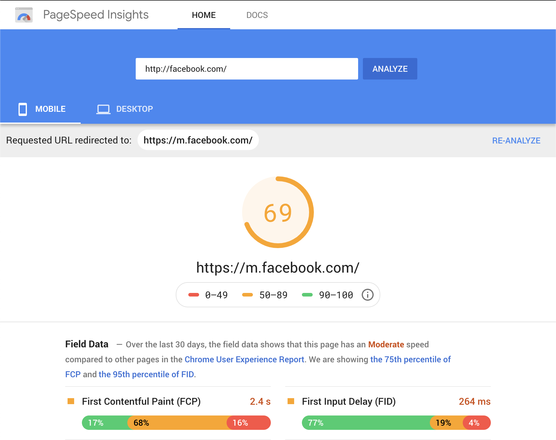 PageSpeed Insights By Google - Analyse how to make your Wordpress site faster