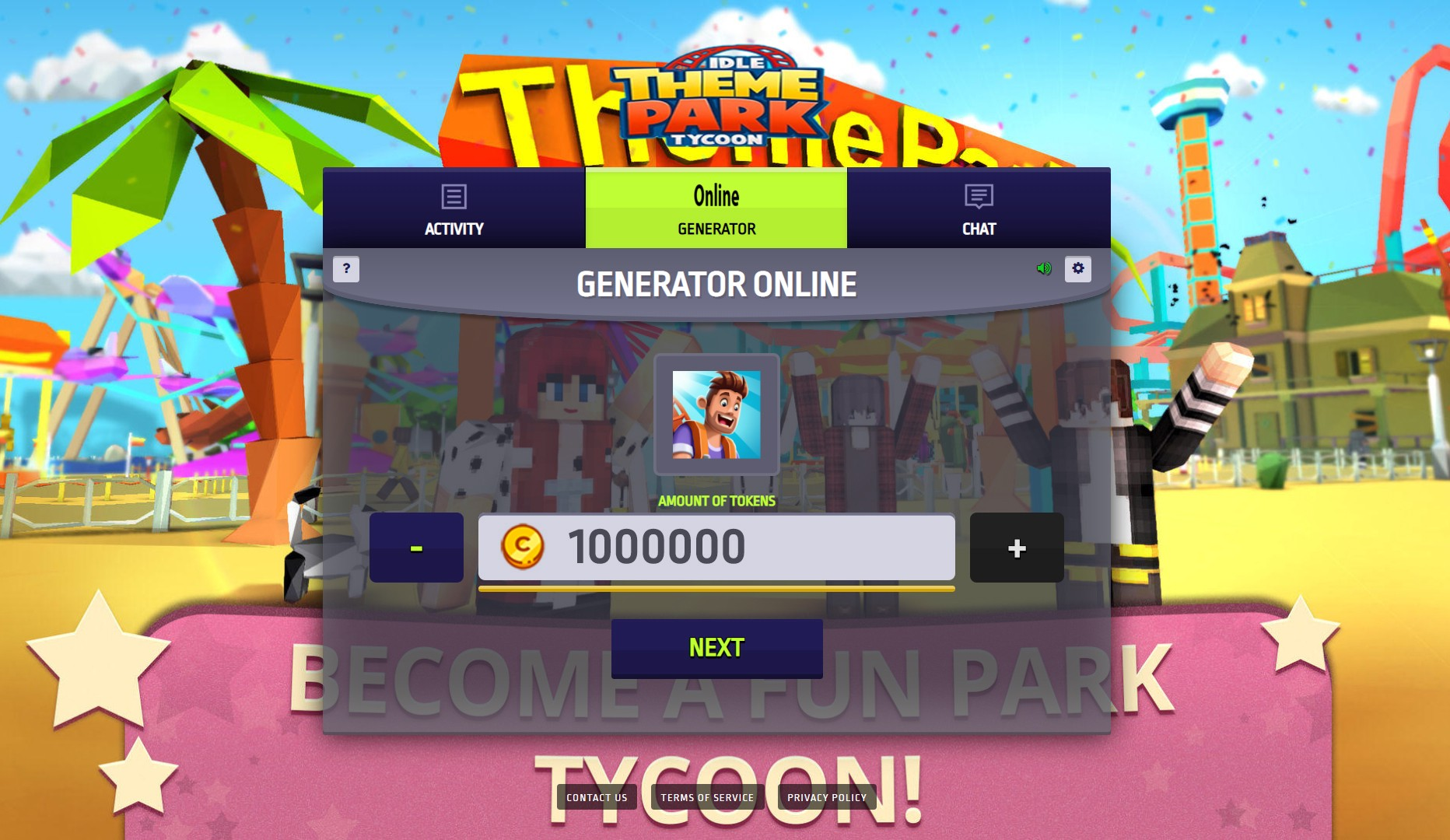 Idle Theme Park Tycoon APK Mod Hack For Tokens and Cash