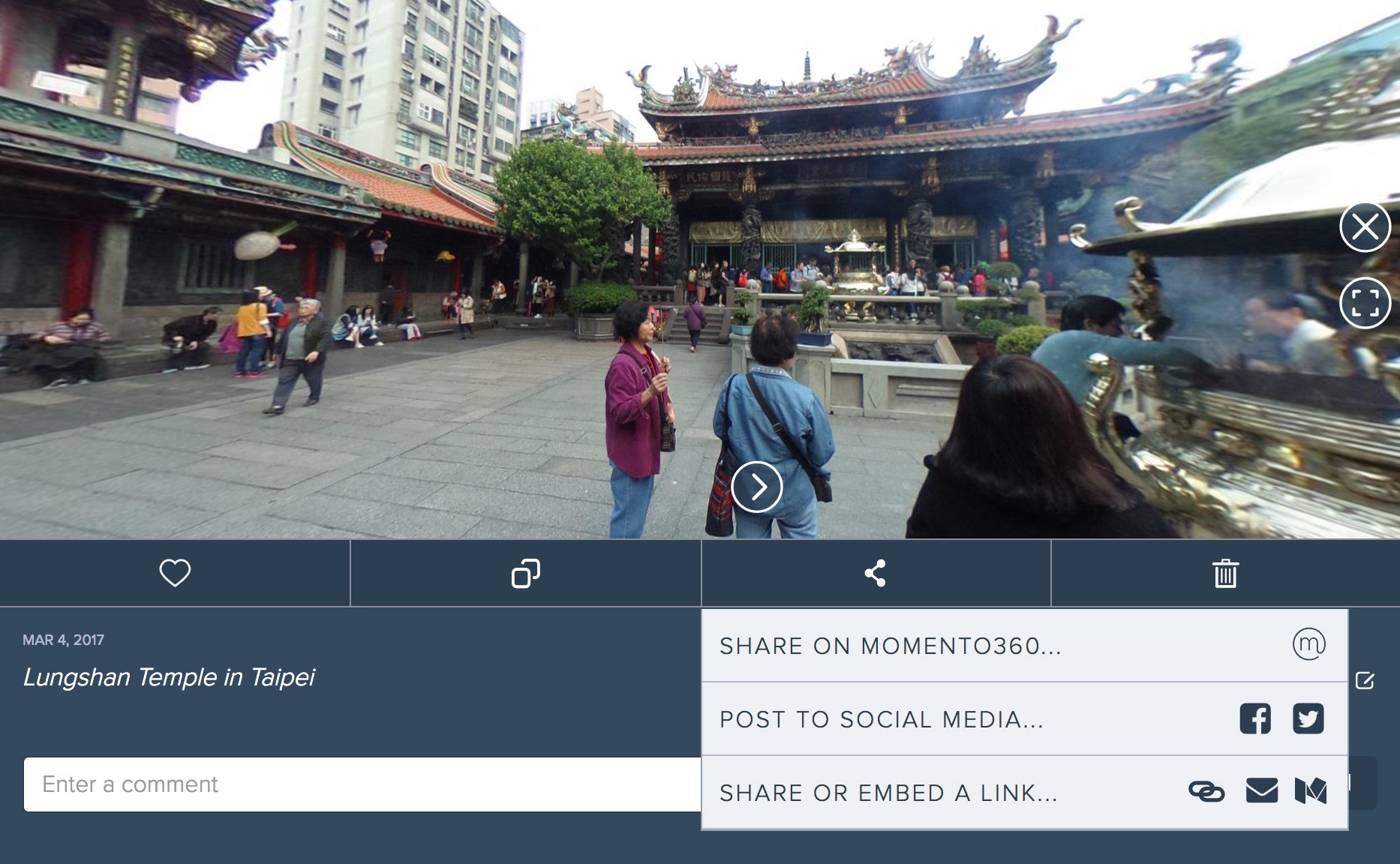 How to embed 360-degree images on your website or blog