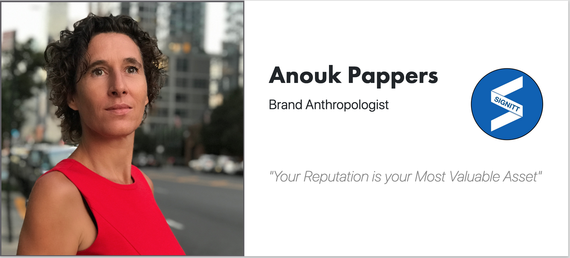 Anouk Pappers - Brand Anthropologist - CEO Signitt