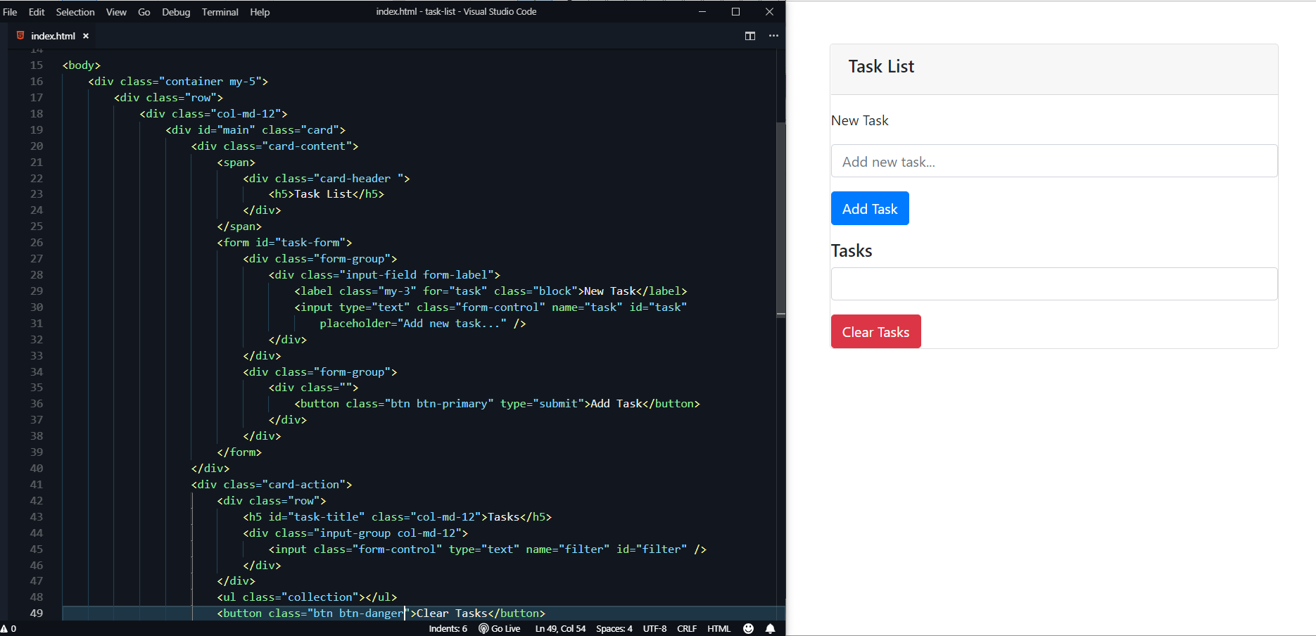 How to build a task management application using VanillaJS 🙂