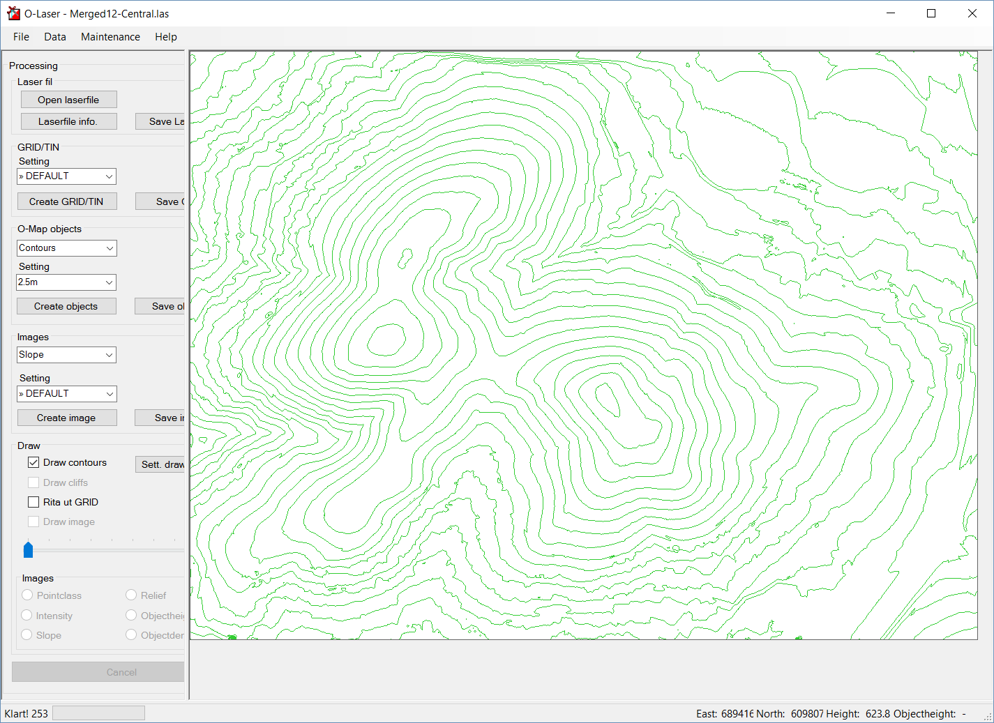 Generating contours and cliffs with OL Laser - Greg Wilson