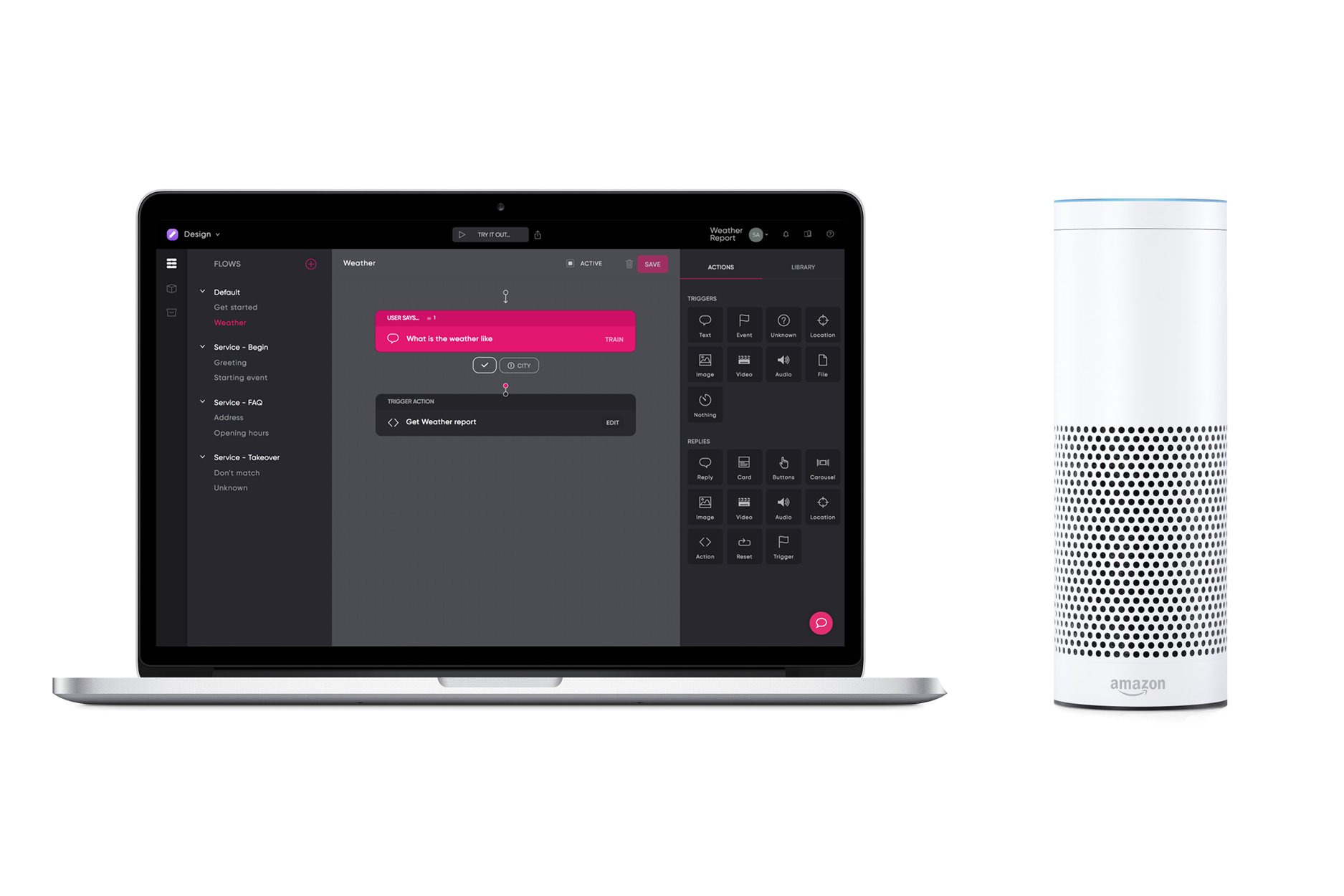 Creating an Alexa Skill with Flow ai in 5 minutes - Chatbots