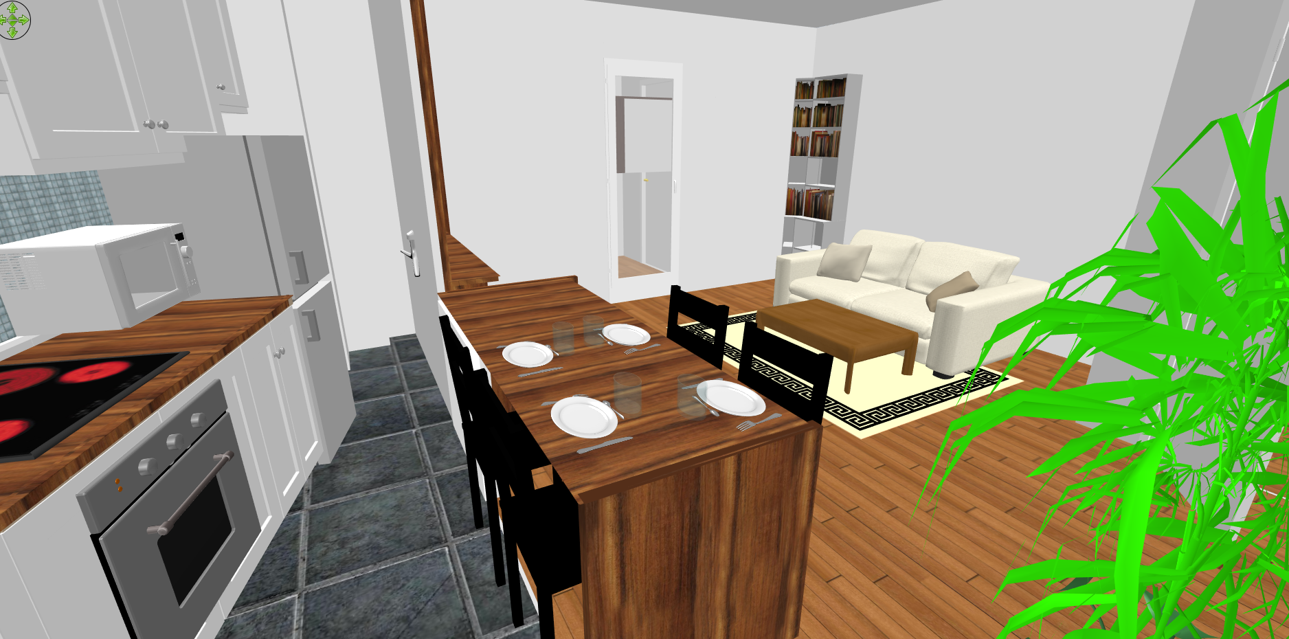 3D view of an apartment