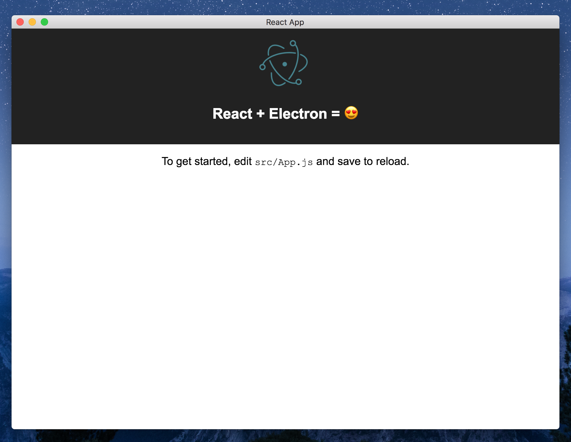 ⚡️ From React to an Electron app ready for production