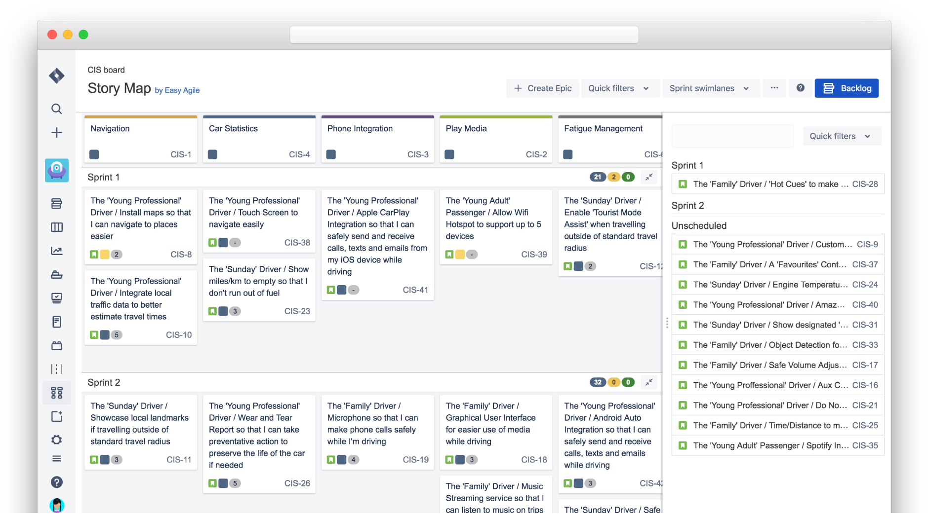 Bringing back issues without epics — Easy Agile User Story