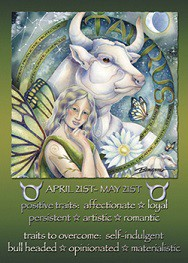 Characteristic of Taurus and ethereal art