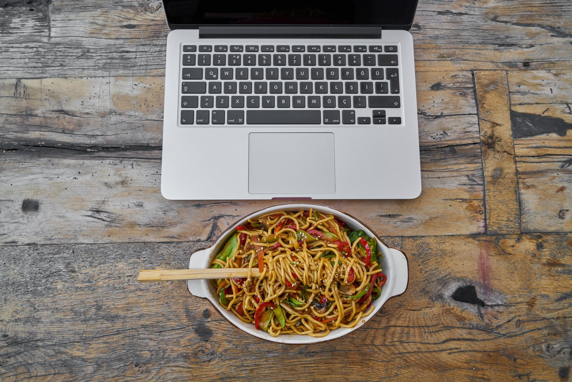 Food and Laptop