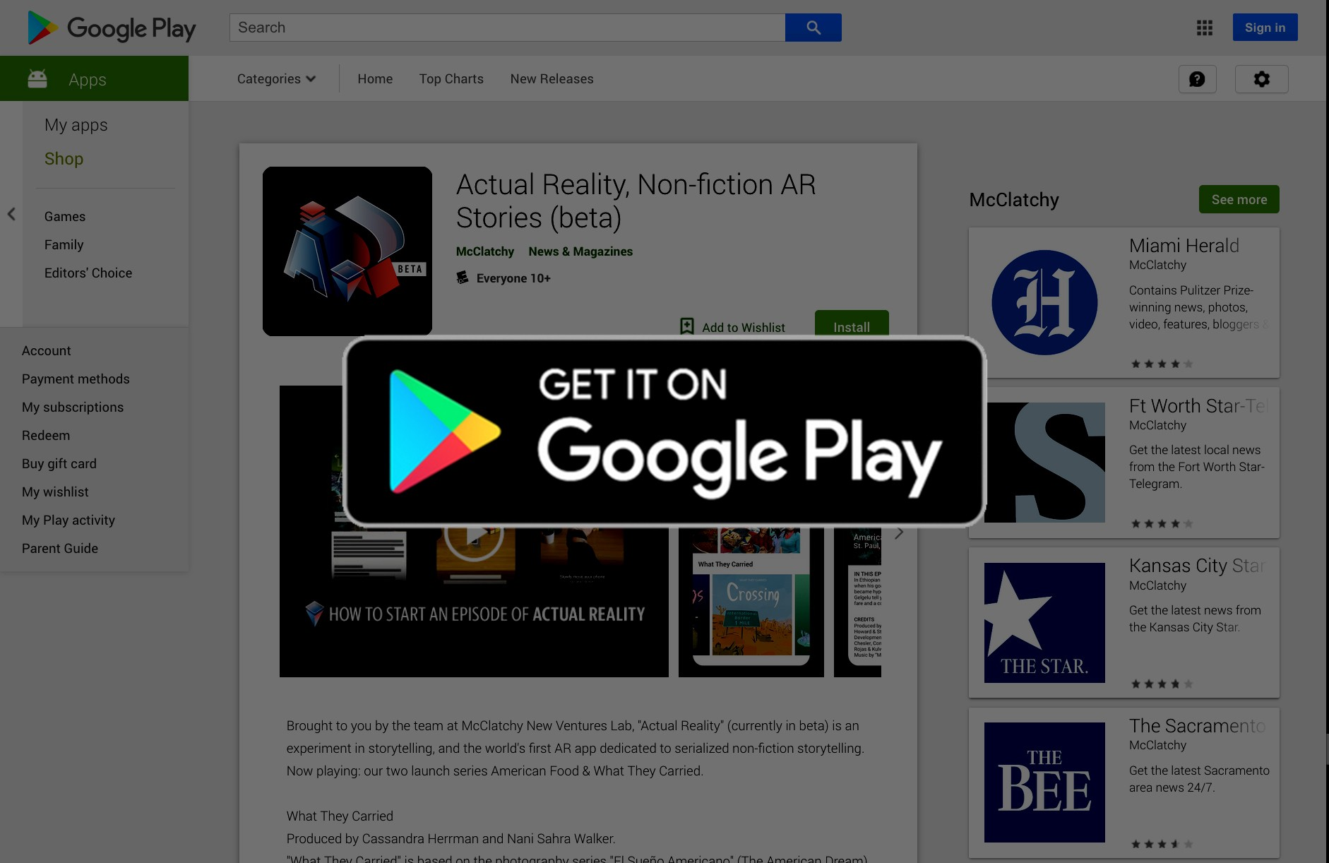What is the Actual Reality app, and why does it exist?