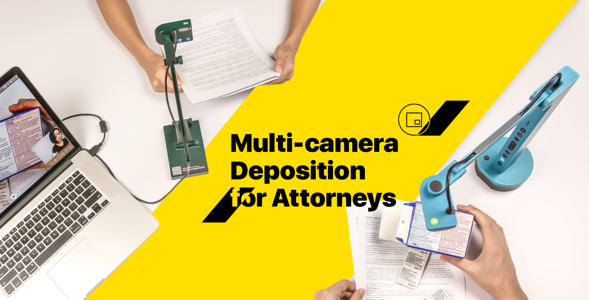 Multi-camera video deposition made easy for attorneys with IPEVO