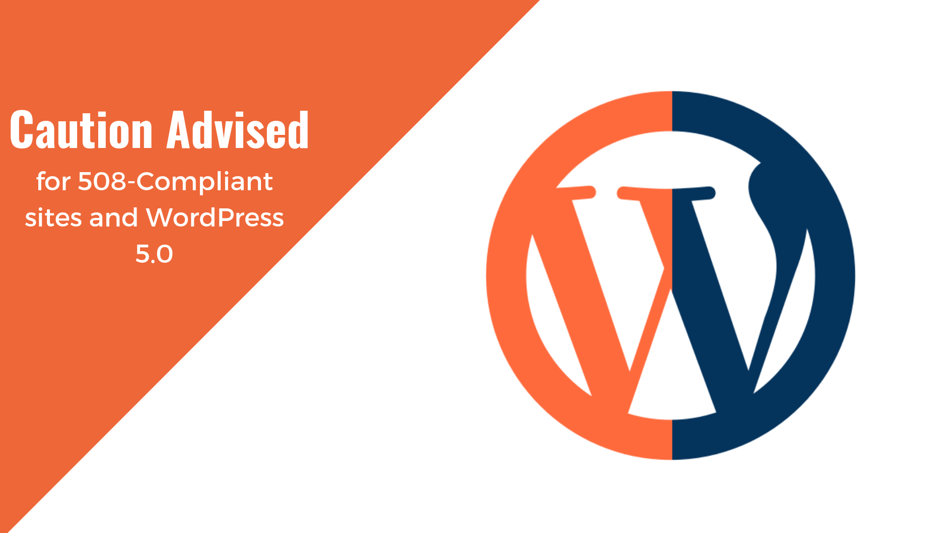 Caution Advised For 508 Compliant Sites And Wordpress 5 0