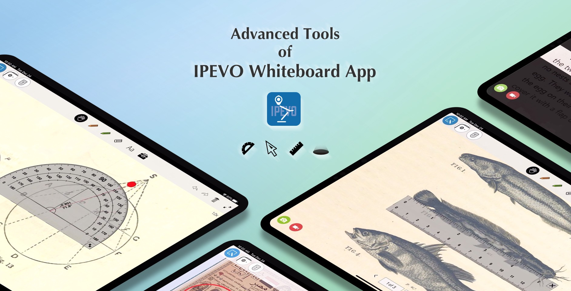 Check out the Advanced Tools of IPEVO Whiteboard app