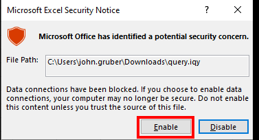 Microsoft Excel Bypass security