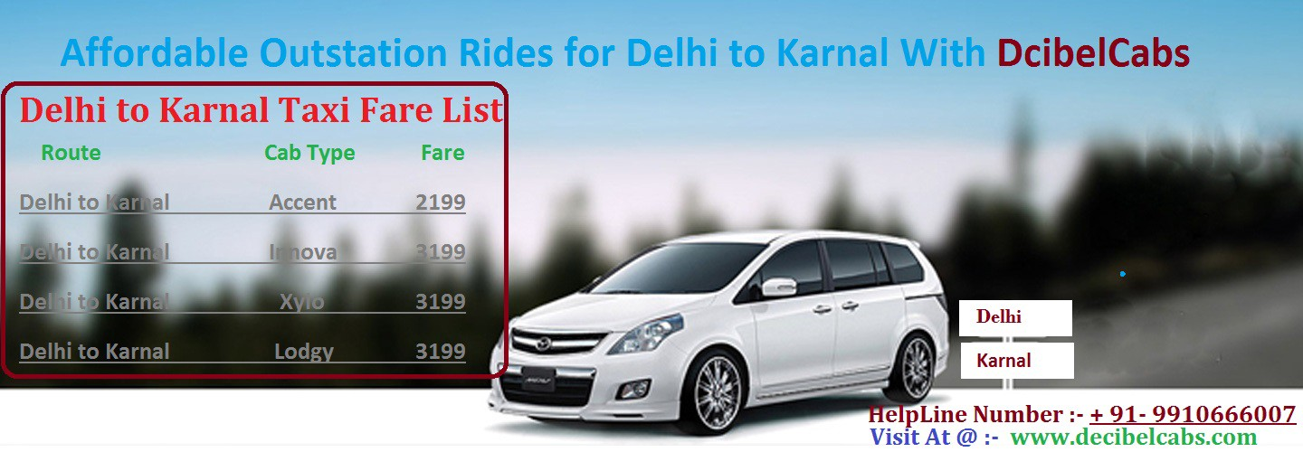 Online Taxi from Delhi To Karnal , Delhi-karnal Cab Booking