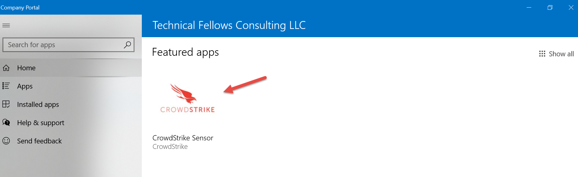 Deploy CrowdStrike Agent to Windows 10 via Intune as Line of