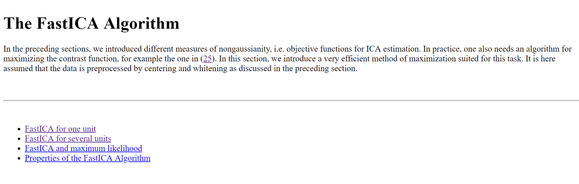 FAST ICA vs Reconstruction ICA vs Orthonormal ICA in