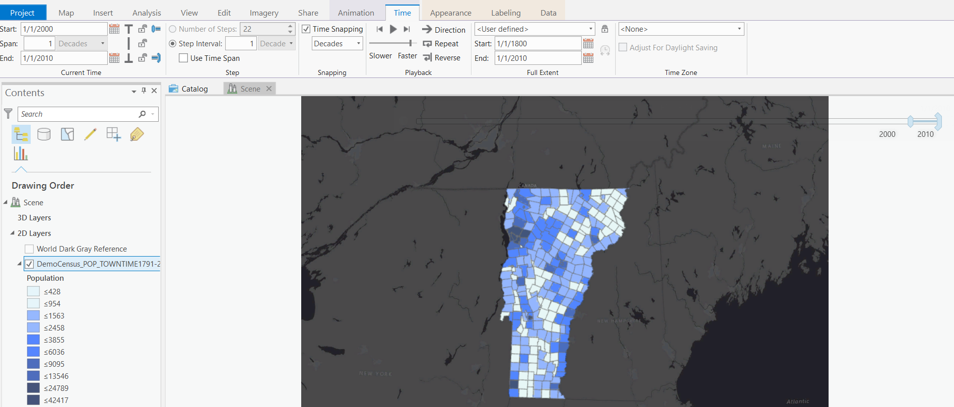 Dealing with Time in Geospatial Data - Vermont Center for