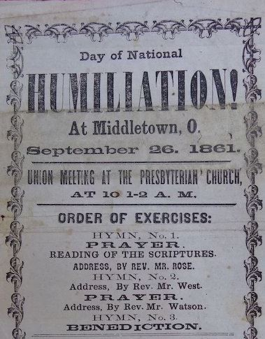September 27, 2018: A Day of Humiliation, Prayer and Fasting