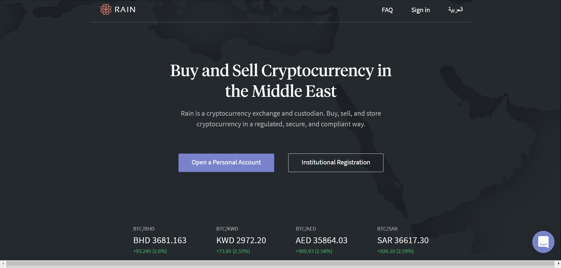 Rain' is Live — The Middle East's First Licensed Crypto Exchange