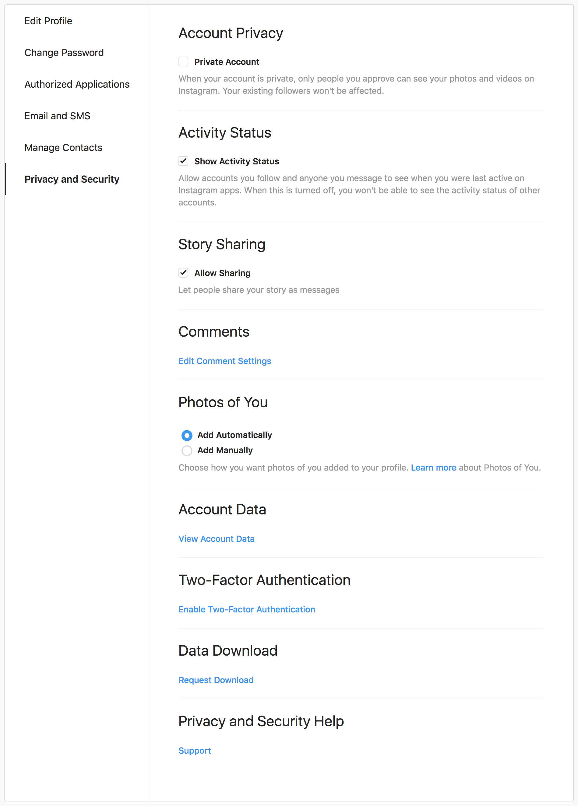 GDPR User Interfaces by Etsy, Twitter, Instagram - Bart