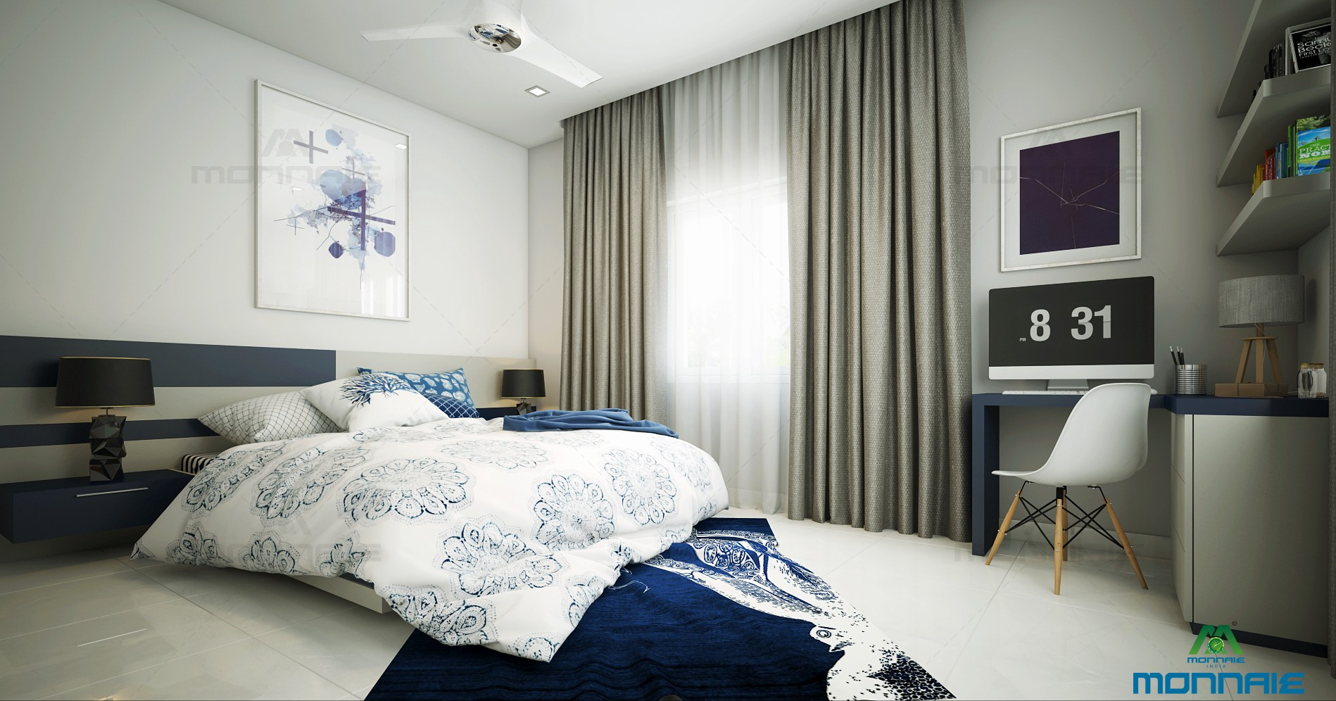 Bedroom Interiors In Cochin Customized Bedroom Interior Designs From Monnaie Kerala By Monnaie Architects Interiors Medium