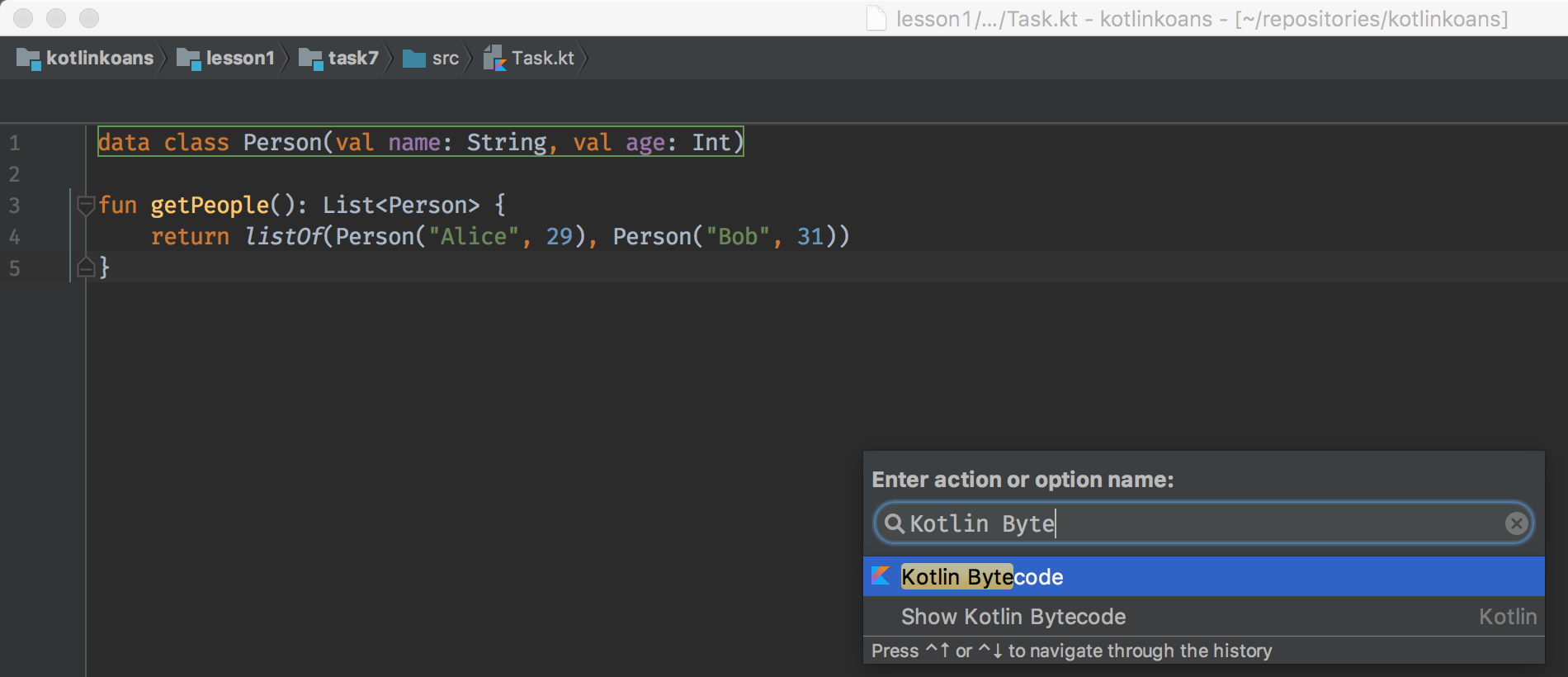 Tip: How to show Java equivalent for Kotlin code