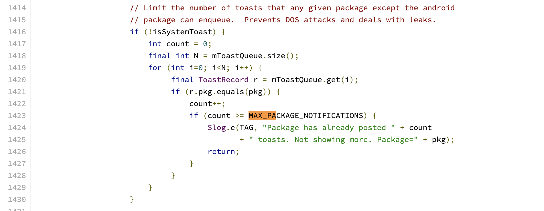 MAX_PACKAGE_COUNT