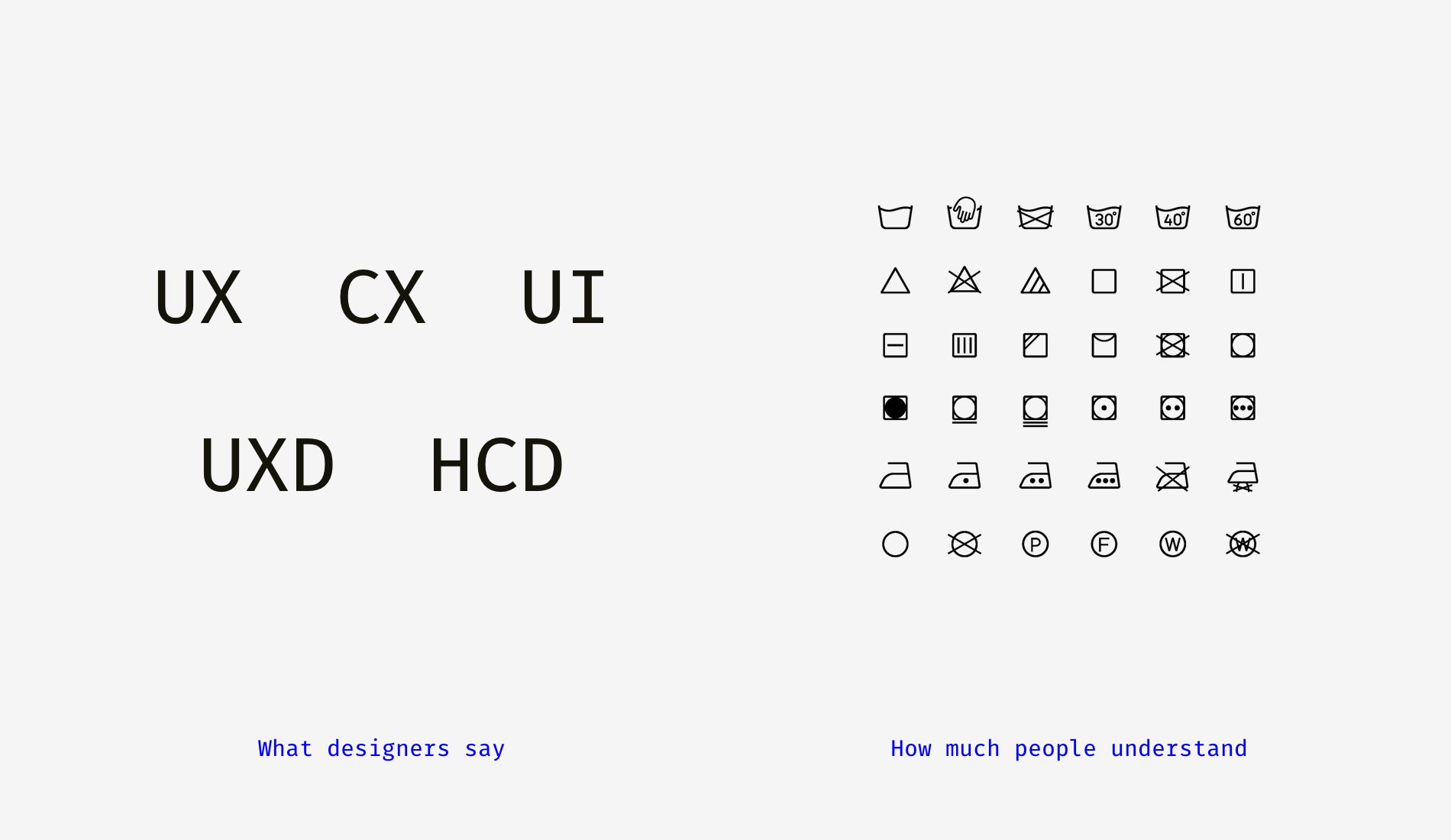 Why UX, UI, CX, IA, IxD, and Other Sorts of Design Are Bullshit
